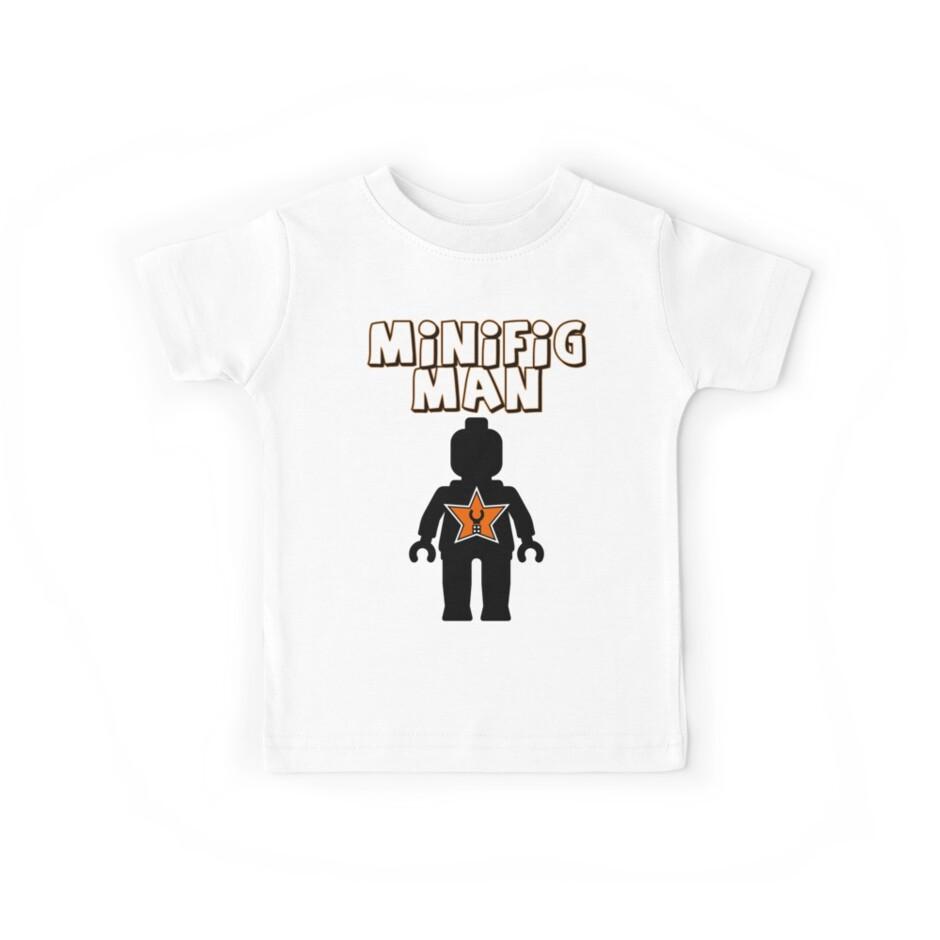 Minifig Man [Black], Customize My Minifig Star Logo by Customize My Minifig