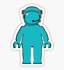 Banksy Style Astronaut Minifigure Sticker