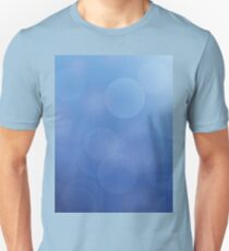 Abstract background of christmas blue lights Unisex T-Shirt