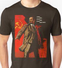 Lenin lebte, Lenin lebt, Lenin wird für immer leben! Slim Fit T-Shirt