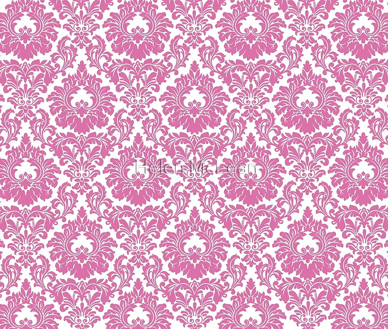 Retro fleur de lis wallpaper design in candy pink art Fleur de lis wall