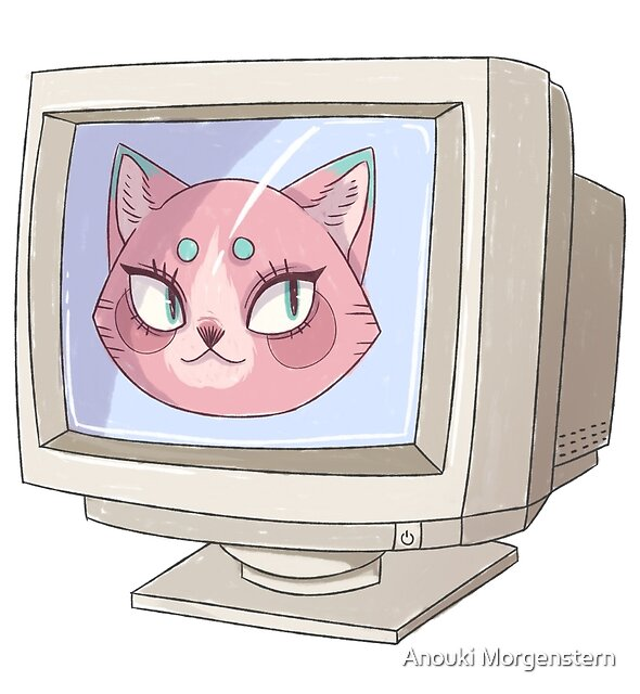 COMPUTER CAT by Anouki Morgenstern