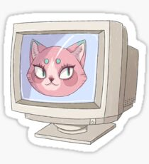COMPUTER CAT Sticker