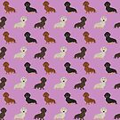 Doxie dachshund dachsie pattern print dog lover dog breed custom dog art by pet friendly by PetFriendly by PetFriendly