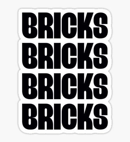 """""""BRICKS BRICKS BRICKS BRICKS """" Customize My Minifig Sticker"""
