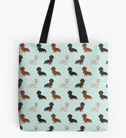 Doxie dachshund dachsie pattern print dog lover dog breed custom dog art by pet friendly by PetFriendly Tote Bag