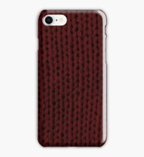 Burgundy Knit iPhone Case/Skin