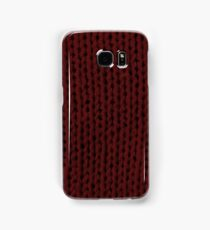 Burgundy Knit Samsung Galaxy Case/Skin