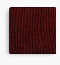 Burgundy Knit Canvas Print
