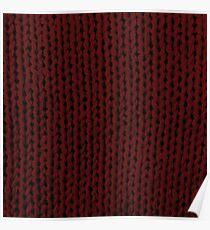 Burgundy Knit Poster