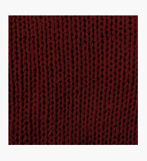 Burgundy Knit Photographic Print