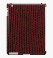 Burgundy Knit iPad Case/Skin