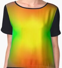 Rainbow abstract Chiffon Top
