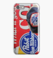 Pabst Blue Ribbon iPhone Case/Skin