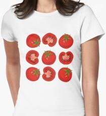 Ripe Red Tomatoes Womens Fitted T-Shirt
