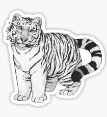 White Tiger Sticker Sticker