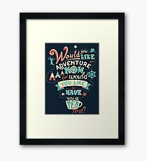 Peter Pan Quote #01 Framed Print