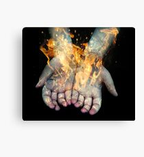 Flaming Hands  Canvas Print