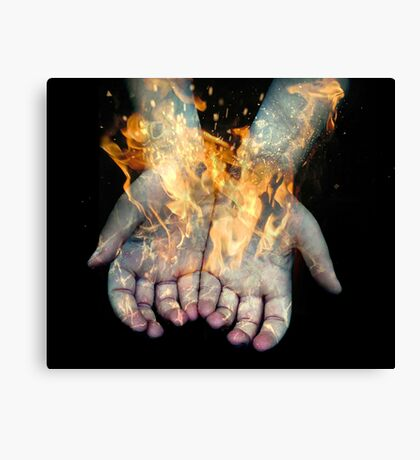 Flaming Hands  Canvas Print
