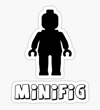 Minifig [Black], Customize My Minifig Sticker