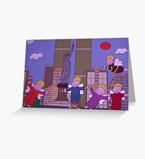 Angels in New York. Greeting Card