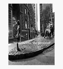 Fearless Girl Photographic Print
