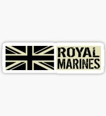 British Royal Marines Black Military Flag Sticker