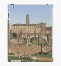 Christoffer Wilhelm Eckersberg - View Of The Forum In Rome iPad Case/Skin