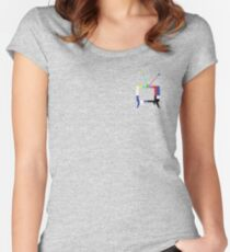 Color Bar TV Women's Fitted Scoop T-Shirt