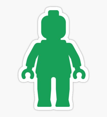 Minifig [Large Green] Sticker