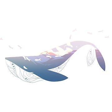 Sea a whale by AidaDoesDoodles