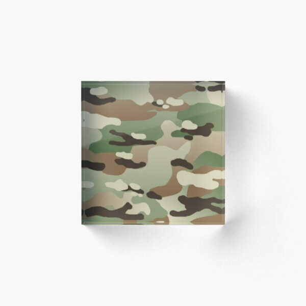 U.S. Military: New Camouflage Pattern Acrylic Block