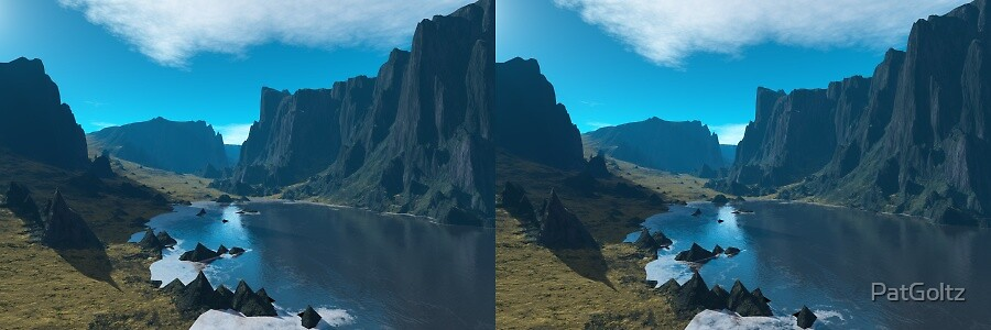 Silent Paradise Stereogram by PatGoltz