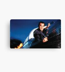 Pixel Steven Seagal (under siege) Canvas Print