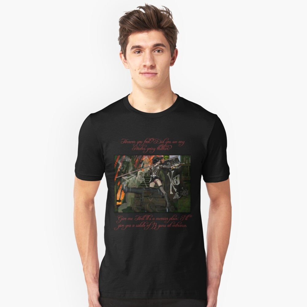 Pirate Ghost Witch Of The Caribbean  Slim Fit T-Shirt