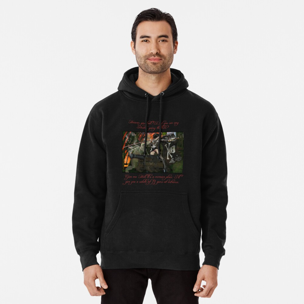 Pirate Ghost Witch Of The Caribbean  Pullover Hoodie Front