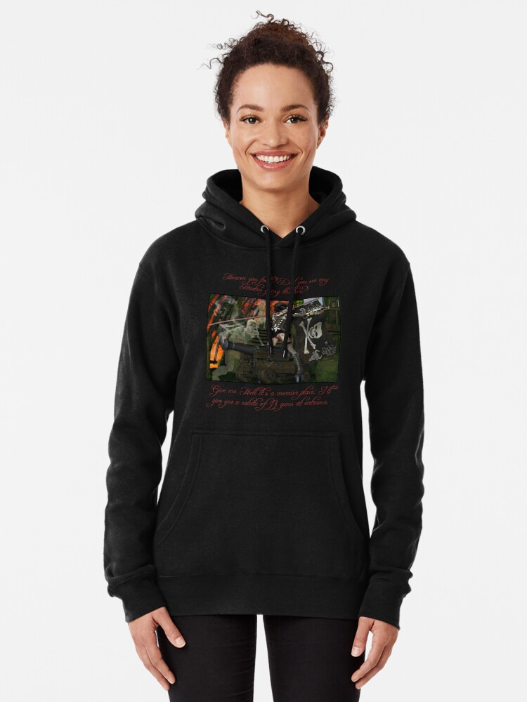 Alternate view of Pirate Ghost Witch Of The Caribbean  Pullover Hoodie
