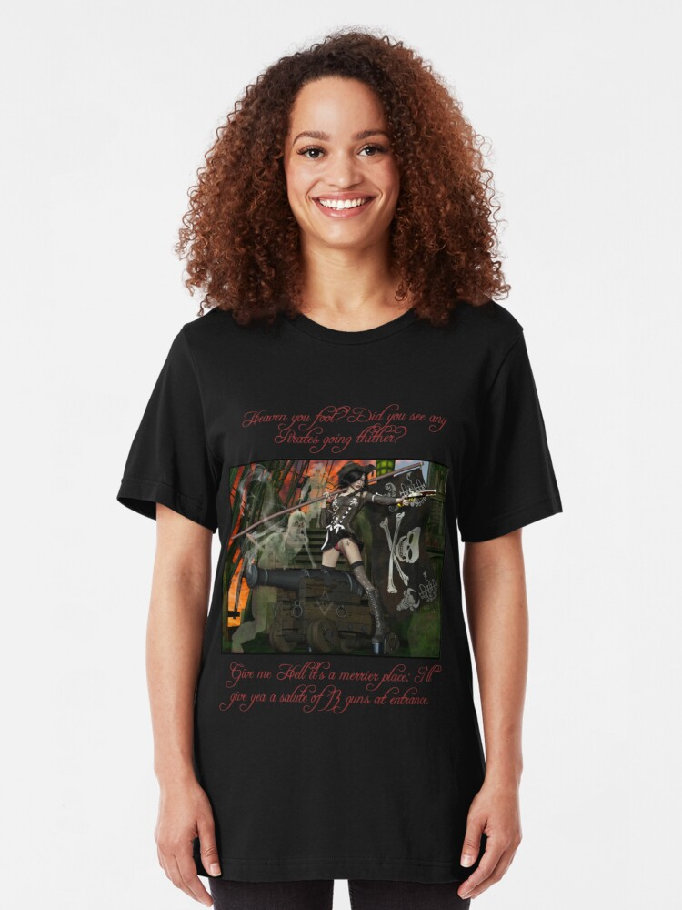 Alternate view of Pirate Ghost Witch Of The Caribbean  Slim Fit T-Shirt
