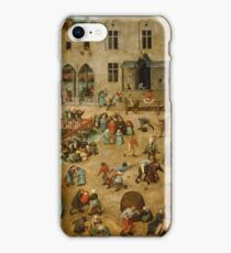 Pieter Bruegel the Elder - Children s Games 1560 iPhone Case/Skin