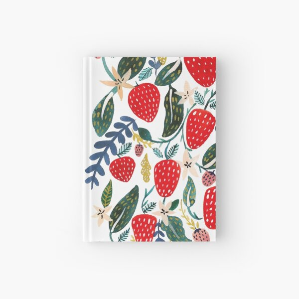 Strawberries Hardcover Journal