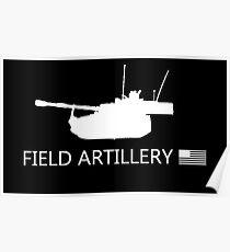US-Militär: Feldartillerie Poster