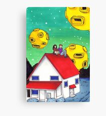 a toothpaste suburb  Canvas Print