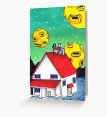 a toothpaste suburb  Greeting Card