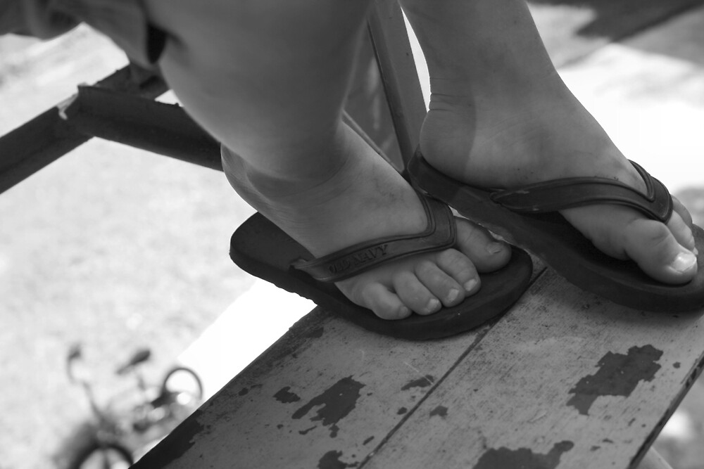 Feet with Bicycle by whircat