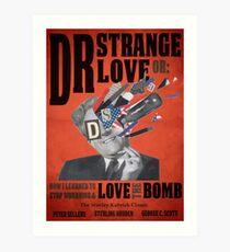 Dr Strangelove (alternative film poster) Art Print