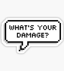 What's Your Damage Sticker