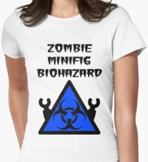 ZOMBIE MINIFIG BIOHAZARD Women's Fitted T-Shirt