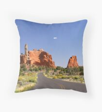 Road to Page Throw Pillow