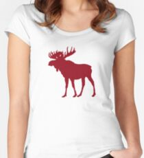 Moose: Rustic Red Women's Fitted Scoop T-Shirt
