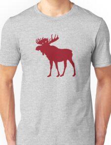 Moose: Rustic Red Unisex T-Shirt